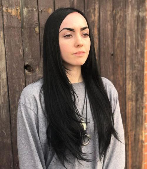 Sumber : latest-hairstyles.com | Glossy black hair