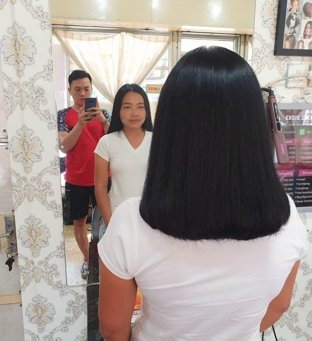 Sumber : Pinterest | Rambut tipe Glossy cocok buat kamu yang tidak ingin terlihat kontras di depan teman-teman
